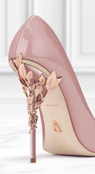 shoes blush pink rose gold heels