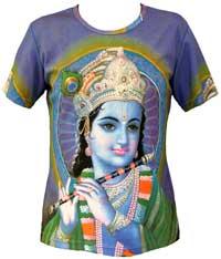 4d192e7a Hindu Gods Goddesses T-shirts Yoga T- Shirt Krishna Ganesh T-shirts