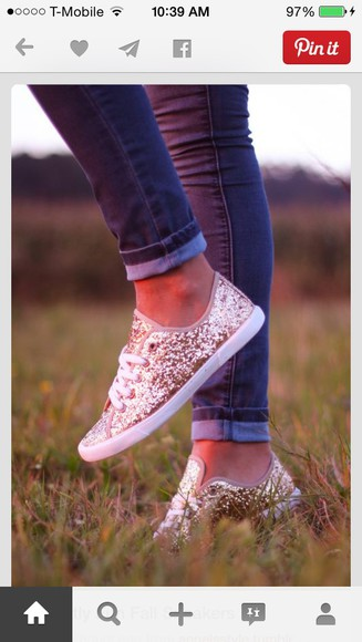 glitter sneakers sparkly