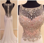dress,white prom dress,white dress,pink dress,beaded dress,prom dress,long prom dress,long dress,prom gown,instagram,modnessa,sparkly dress,rihnstones,prom,gorgeous dress,beautiful,embellished,gown,blush pink,a line,mermaid prom dress,burgundy,white,senior,jewels,my prom,maroon please,please let me knw