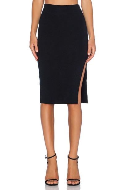 LnA skirt pencil skirt black