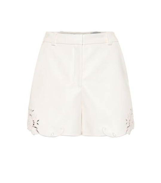 Stella McCartney Faux leather shorts in white