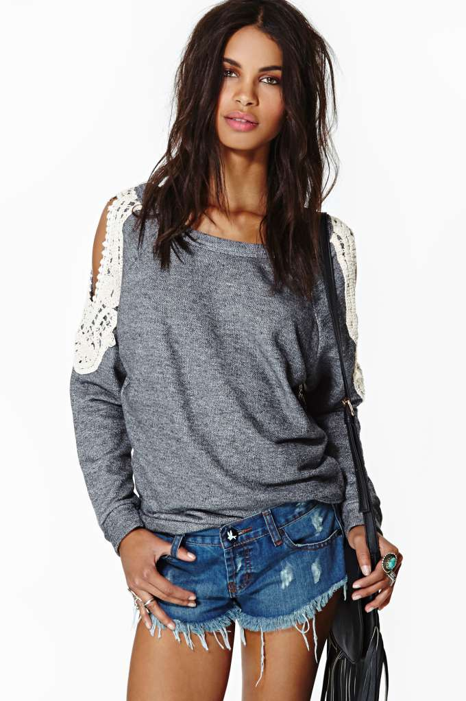 New Romantic Sweatshirt in  What's New at Nasty Gal