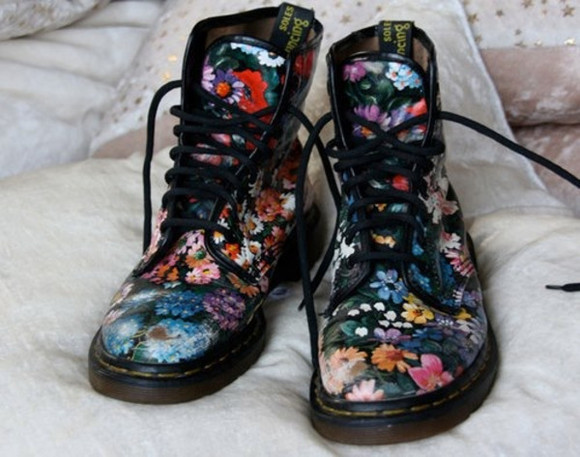 floral boots floral DrMartens not made anymore shoes DrMartens