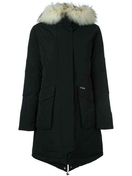 parka fur women dog black coat