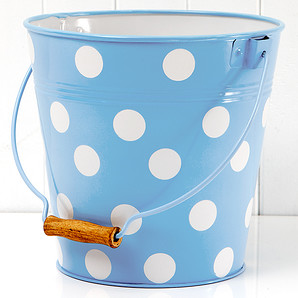 Mockingbird Galvanized Iron Bucket - Blue | Target Australia
