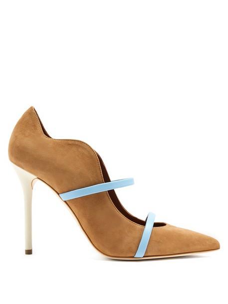 MALONE SOULIERS suede pumps pumps suede tan shoes