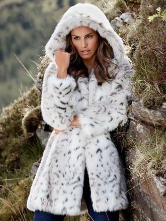 coat faux fur fur winter coat