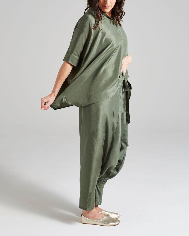 silk freestyle blouse