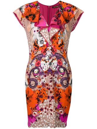 dress shift dress women silk purple