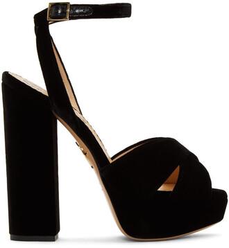 sandals platform sandals black velvet shoes
