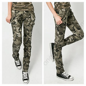 Womens Cotton Moisture Wicking Military Camouflage Pockets Loose Army Pants | eBay