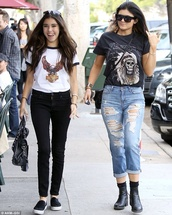 harley davidson,madison beer,kylie jenner,t-shirt,shirt,top,graphic tee,jeans
