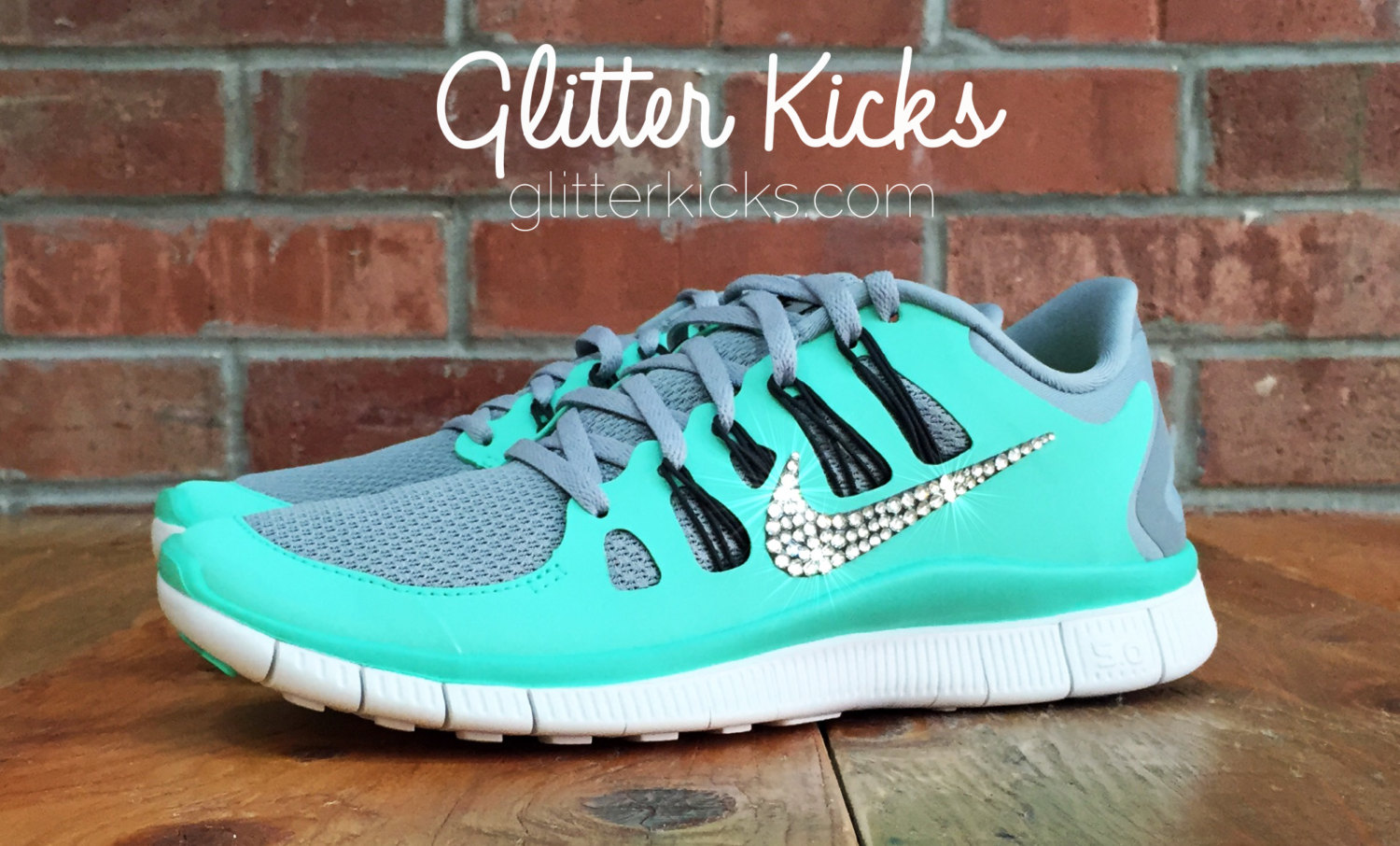 6a8cceaf7670d Bling Nike Free 5.0 Glitter Kicks With Swarovski Crystal Rhinestones - Bling  Nikes