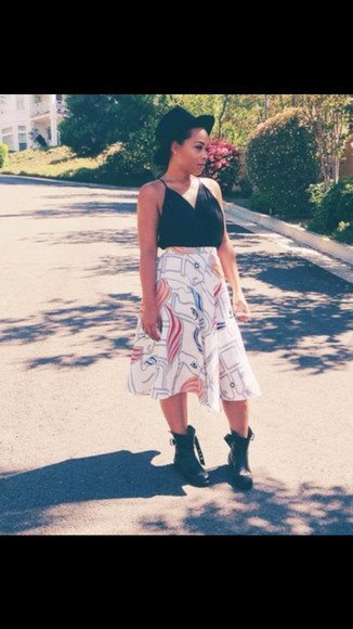 summer outfits skirt combat boots sorella boutique heather sanders trendsetter trends vintage skirt maxi skirt last kings sorella