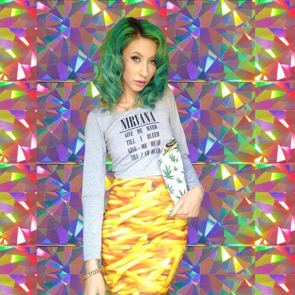 skirt all over print skirt fries food skirt food