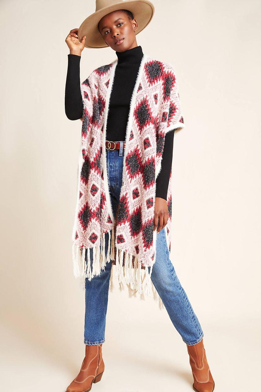 Wylie Knit Kimono by Anthropologie in Assorted