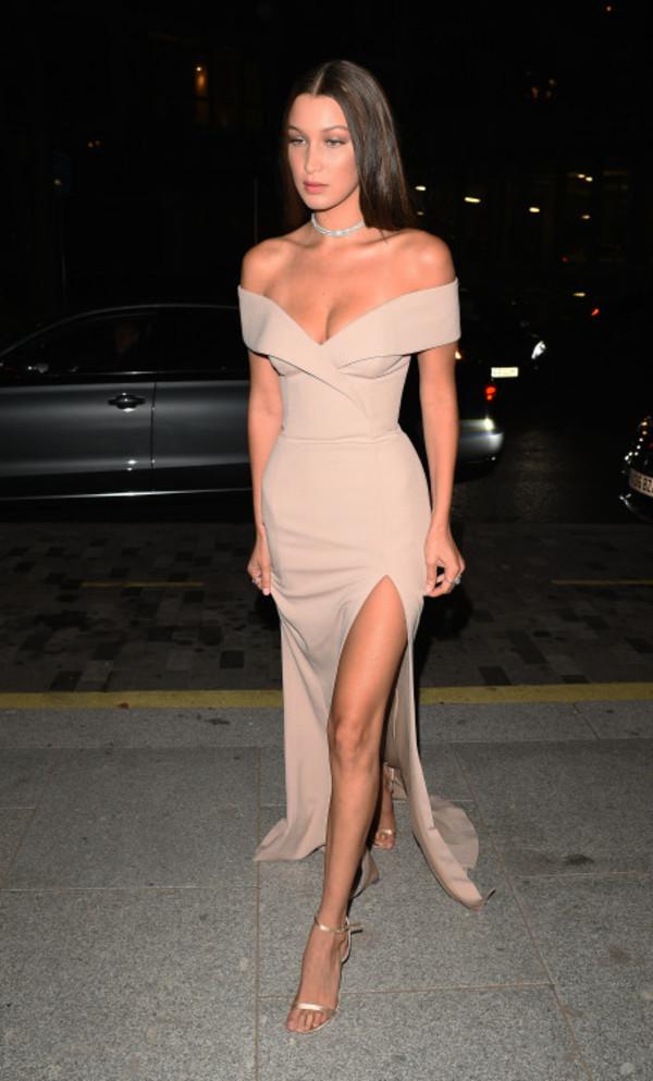 Dress Tumblr Bella Hadid Model Maxi Dress Red Carpet