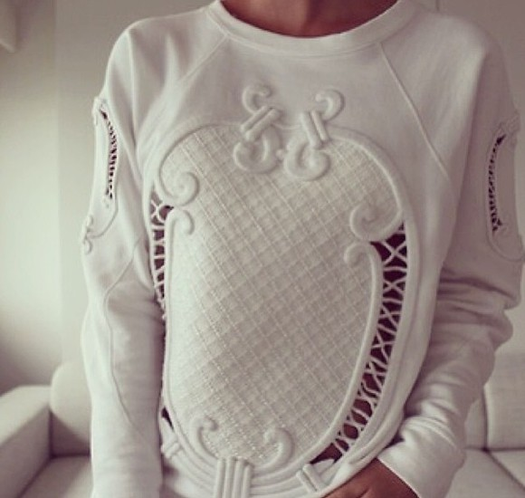 details cut-out white shirt sexy sweater tumblr tumblr outfit white clothes