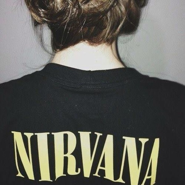 t-shirt nirvana black and yellow