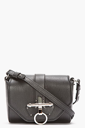 Givenchy Black Leather Obsedia Shoulder Bag for women | SSENSE