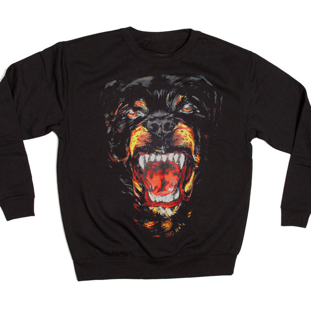 NEW ROTTWEILER FACE JUMPER SWEATSHIRT KANYE WEST SWEATER DOG FASHION DESIGNER | eBay