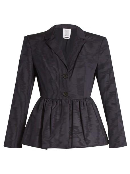 Rosie Assoulin jacket silk wool navy