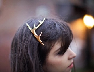 hair accessory deer hipster gold