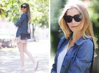 passions for fashion blogger shorts shirt t-shirt shoes sunglasses jewels bag