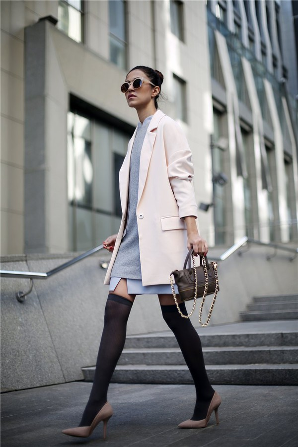 tina sizonova blogger jacket bag socks
