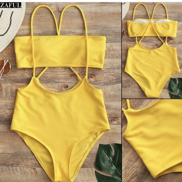 swimwear yellow