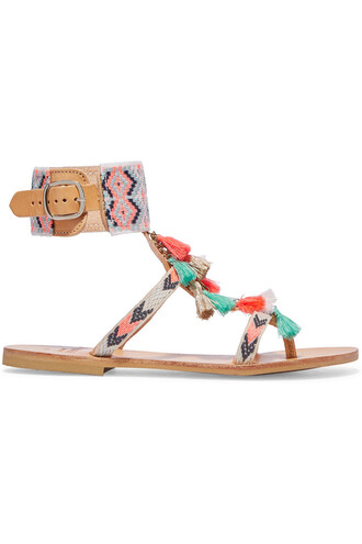 embellished sandals leather sandals leather coral shoes