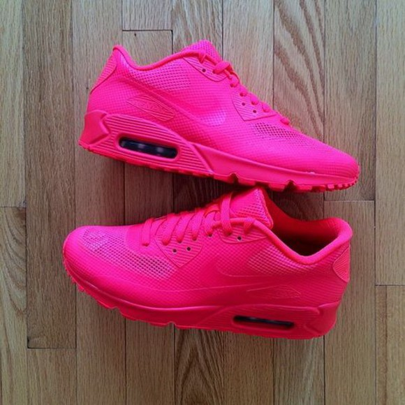shoes sneakers hot pink air max kicks