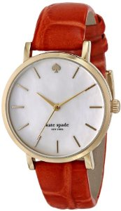 Amazon.com: kate spade new york Women's 1YRU0533 Metro Analog Display Japanese Quartz Orange Watch: Watches