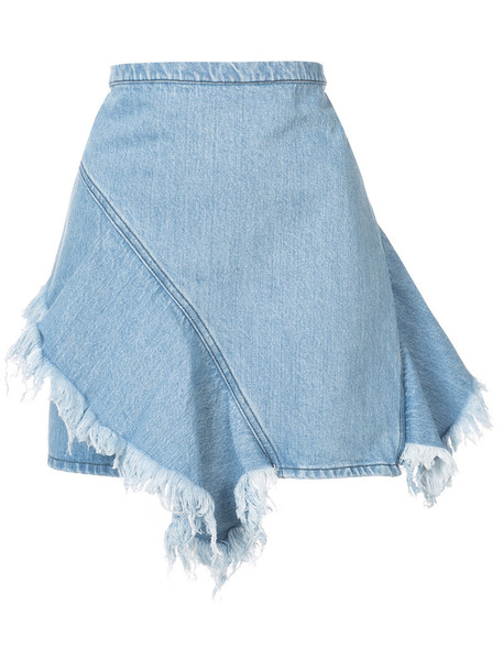 Strateas Carlucci skirt denim skirt denim mini women spandex cotton blue
