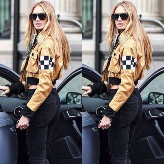 jacket italist checkered dsquared2 bomber jacket spring jacket streetstyle 36683 black bomber jacket black jacket zip zip up jacket
