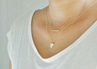 jewels jewelry necklace gold gold necklace layered bar necklace