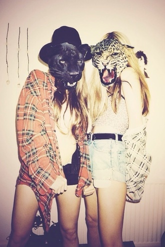 coat plaid jacket crop tops white black red t-shirt hat leopard print dope oversized sweater hipster shorts mask costume hipster halloween costume halloween