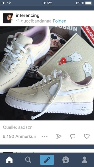 shoes beige nike sneakers cute white