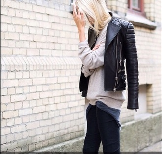 style jacket or blogger black leather jacket exact jacket similar