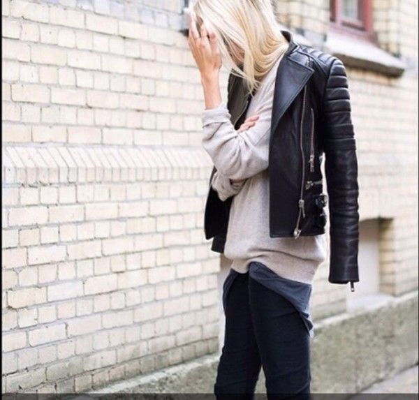 jacket or blogger style black leather jacket exact jacket similar