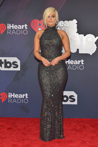 dress iheartradio gown prom dress maxi dress bodycon dress red carpet bebe rexha