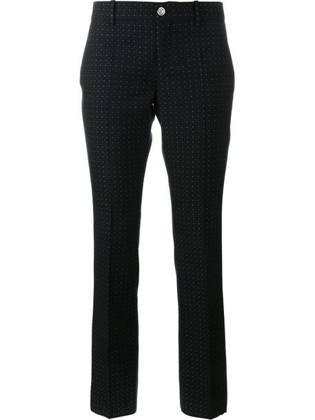 gucci women cotton wool blue pants