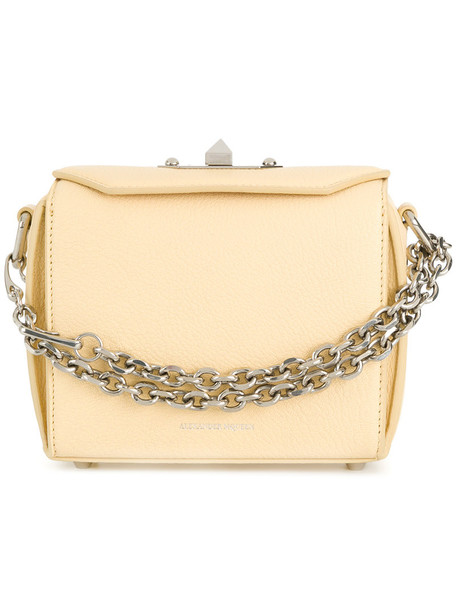 women bag silver leather yellow orange