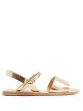 metallic,sandals,leather sandals,gold,leather,shoes