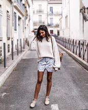 sweater,white sweater,tumblr,knit,knitwear,knitted sweater,skirt,mini skirt,denim,denim skirt,ankle boots,boots