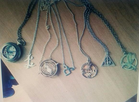 jewels mockingjay catching fire divergent harry potter necklace katniss everdeen
