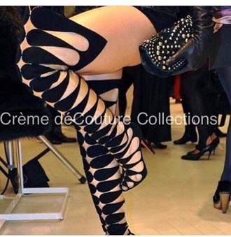 shoes high heels heels black heels knee high boots style fashion bag