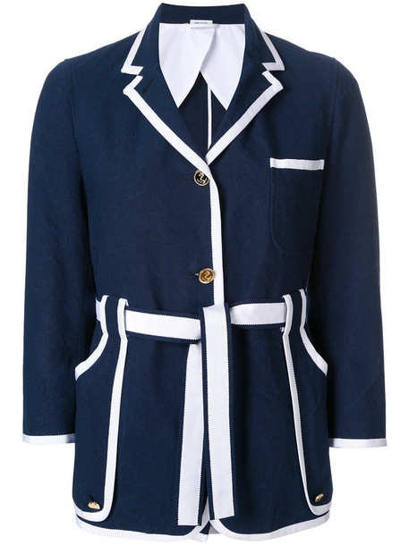 Thom Browne jacket women cotton blue