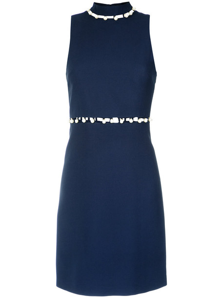dress women embellished blue